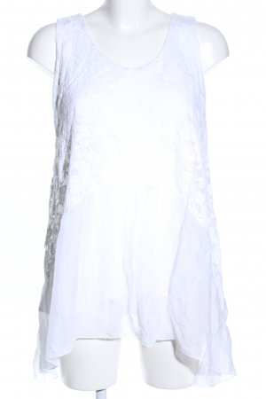 ambra Lace Top white casual look