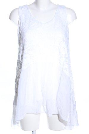ambra Top de encaje blanco look casual