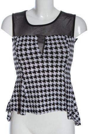 ambra Tanktop zwart-wit volledige print casual uitstraling