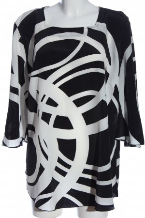 Ambria Slip-over Blouse black-white allover print casual look