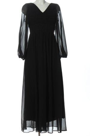 Amelia Jurk met lange mouwen zwart feest stijl