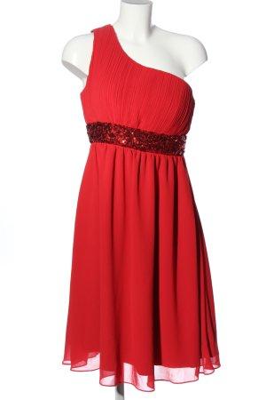Amelia Eénschouderjurk rood elegant