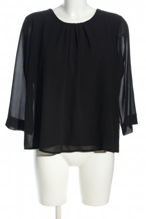 Amelie & Amelie Long Sleeve Blouse black elegant
