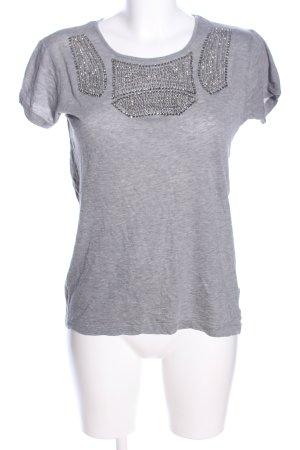 Amen T-Shirt hellgrau-silberfarben meliert Casual-Look