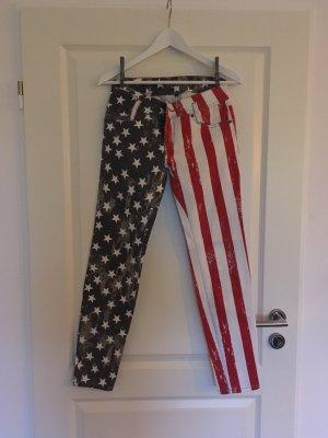 America-Hose von Fishbone in rot, blau, weiß