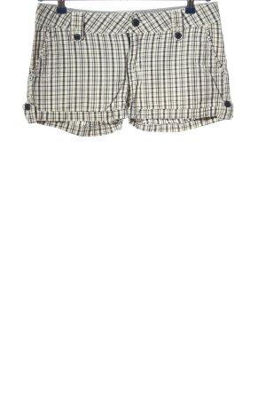 America Today Pantalón corto blanco-negro estampado a cuadros look casual