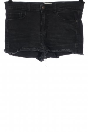 America Today Pantalón corto de tela vaquera negro look casual