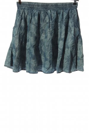 America Today Mini-jupe bleu imprimé allover style décontracté