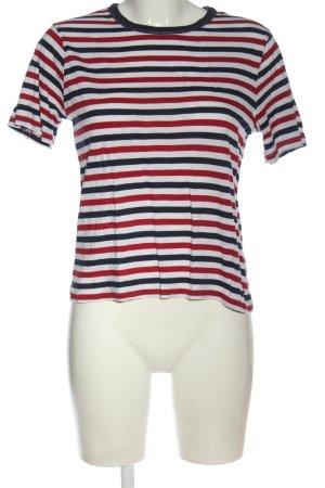 America Today T-shirt rayé imprimé allover style décontracté