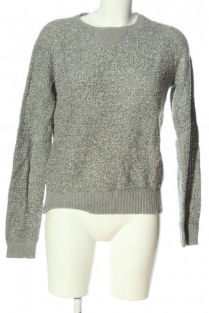 America Today Crewneck Sweater light grey weave pattern casual look