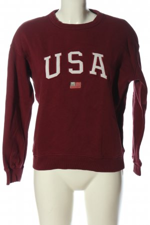 America Today Sweat Shirt red casual look