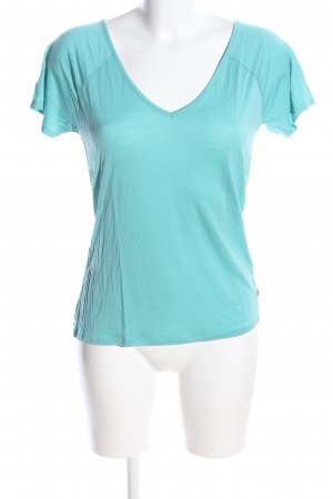 America Today V-Neck Shirt turquoise casual look