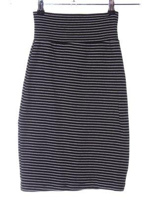 American Apparel Falda de tubo negro-blanco estampado a rayas look casual