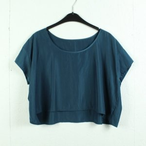 American Apparel Oversized Blouse blue-petrol polyester