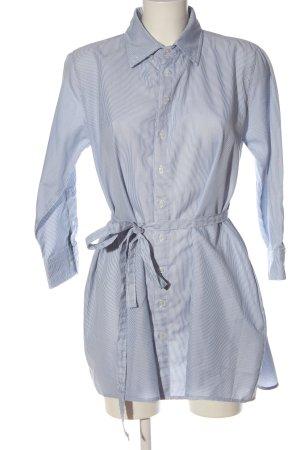 American Apparel Blusenkleid weiß-blau Streifenmuster Casual-Look