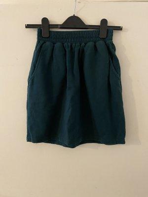 American Apparel California Fleece Pocket Skirt S 36 Grün Tulpenrock High Waist Taillenrock Rock