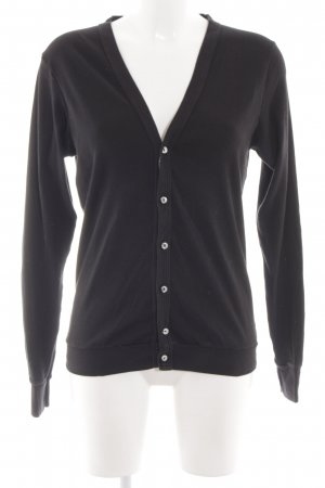American Apparel Cardigan schwarz Allover-Druck Casual-Look