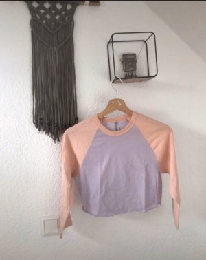 American Apparel Cropped shirt paars-lichtroze