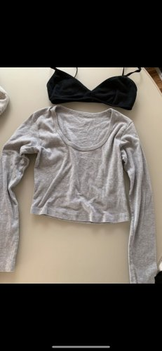 American Apparel Cropped Top black-light grey