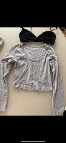 American apparel crop top und bra set