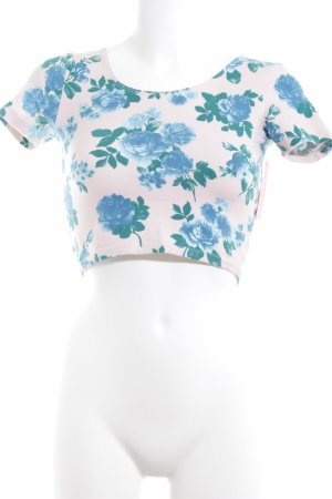 American Apparel Cropped Shirt Blumenmuster Romantik-Look