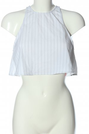 American Apparel Cropped Top weiß-schwarz Streifenmuster Casual-Look