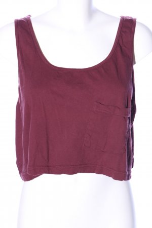 American Apparel Cropped top rood casual uitstraling