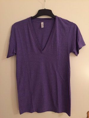 American Apparel Deep V Neck Shirt Gr. S