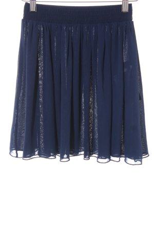 American Apparel Plisowana spódnica ciemnoniebieski
