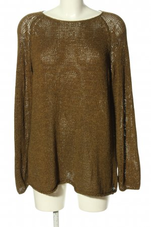 American Apparel Coarse Knitted Sweater bronze-colored weave pattern casual look