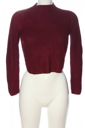 American Apparel Crochet Sweater red casual look