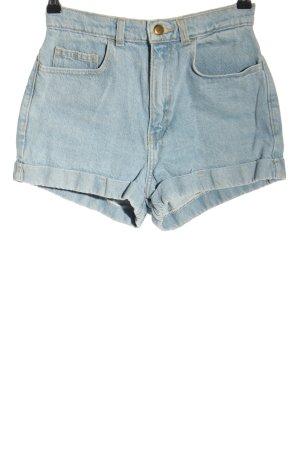 American Apparel High-Waist-Shorts blau Elegant
