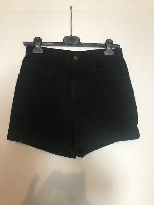 American Apparel Short taille haute noir coton