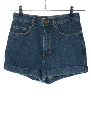 American Apparel Pantalón corto de talle alto azul look casual