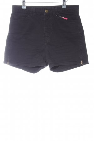 American Apparel High-Waist-Shorts schwarz Casual-Look
