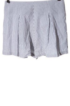 American Apparel Short taille haute gris clair-blanc motif rayé