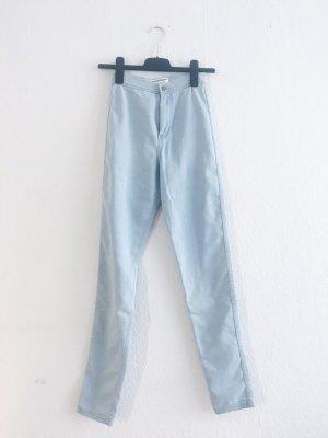 American Apparel Pantalón de cintura alta azul celeste
