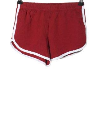 American Apparel Hot Pants rot-weiß Casual-Look
