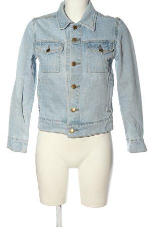 American Apparel Veste en jean bleu style décontracté