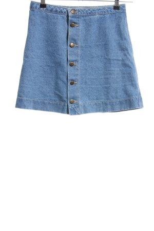 American Apparel Spijkerrok blauw casual uitstraling