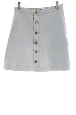 American Apparel Denim Skirt light grey casual look