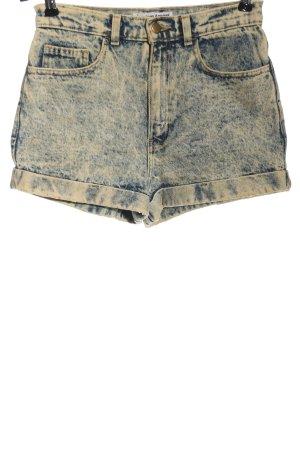 American Apparel Short en jean bleu moucheté style décontracté