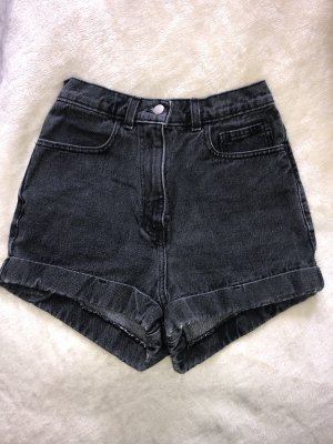 American Apparel Jeansshorts mit hoher Taille