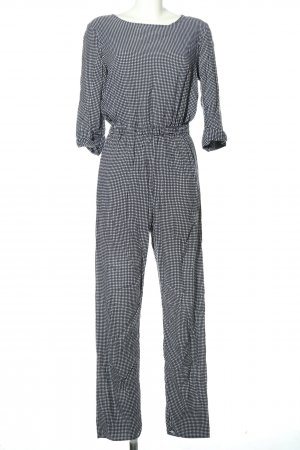 American Apparel Jumpsuit schwarz-weiß Allover-Druck Business-Look