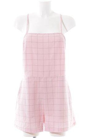American Apparel Jumpsuit pink-schwarz Karomuster Casual-Look