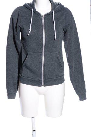 American Apparel Sweatshirt met capuchon lichtgrijs gestippeld