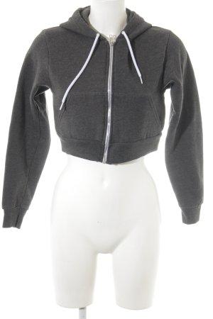 American Apparel Kapuzensweatshirt dunkelgrau Webmuster Casual-Look