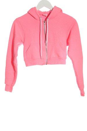 American Apparel Kapuzensweatshirt pink Casual-Look