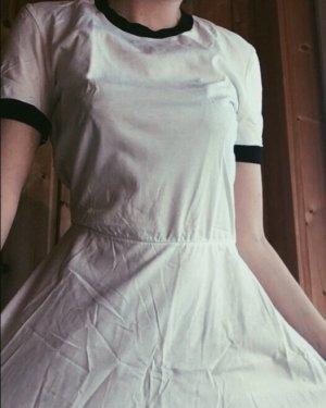 American Apparel T-shirt jurk wit
