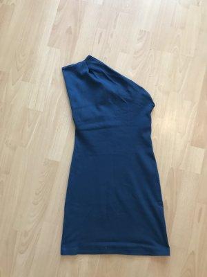 American Apparel One Shoulder Dress blue cotton